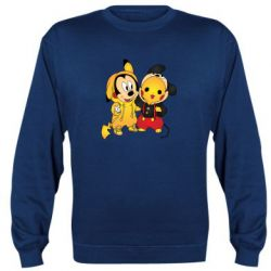 Реглан (свитшот) Mickey and Pikachu