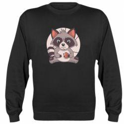 Реглан (світшот) Raccoon with cookies
