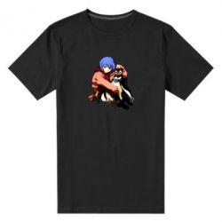 Чоловіча стрейчева футболка Rei Ayanami and Pen Pen