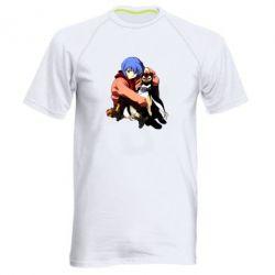 Чоловіча спортивна футболка Rei Ayanami and Pen Pen