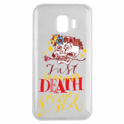 Чехол для Samsung J2 2018 Remember death is not the end