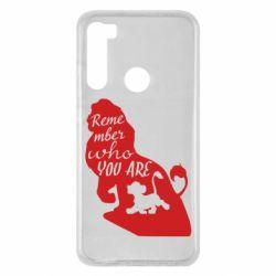 Чехол для Xiaomi Redmi Note 8 Remember who you are