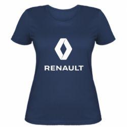 Жіноча футболка Renault logotip