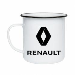 Кружка емальована Renault logotip