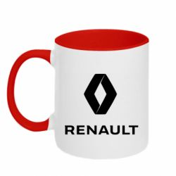 Кружка двоколірна 320ml Renault logotip
