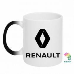 Кружка-хамелеон Renault logotip