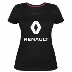 Жіноча стрейчева футболка Renault logotip