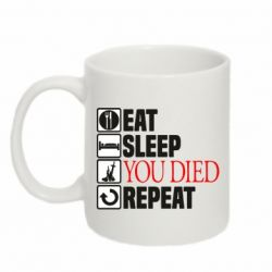 Кружка 320ml Repeat  you died