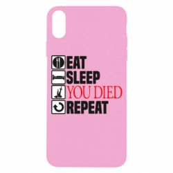 Чохол для iPhone X/Xs Repeat  you died