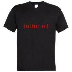 Чоловіча футболка з V-подібним вирізом Resident Evil
