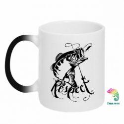 Кружка-хамелеон Respect fish
