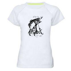 Жіноча спортивна футболка Respect fish