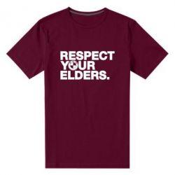 Мужская стрейчевая футболка Respect your elders.