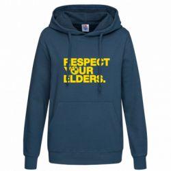 Женская толстовка Respect your elders.