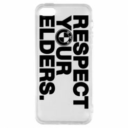 Купить BMW, Чехол для iPhone5/5S/SE Respect your elders., FatLine