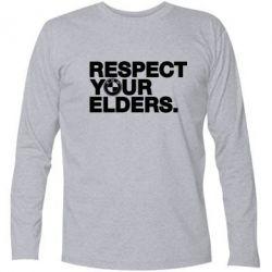 Футболка с длинным рукавом Respect your elders.