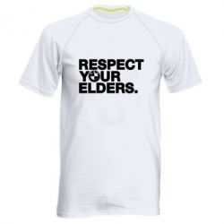 Мужская спортивная футболка Respect your elders.