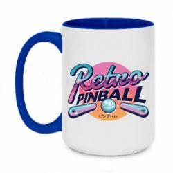 Кружка двухцветная 420ml Retro pinball