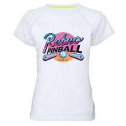 Женская спортивная футболка Retro pinball