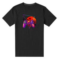Мужская стрейчевая футболка Retro wave