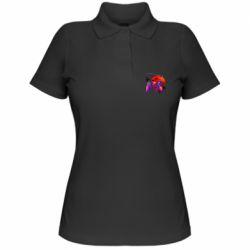 Женская футболка поло Retro wave