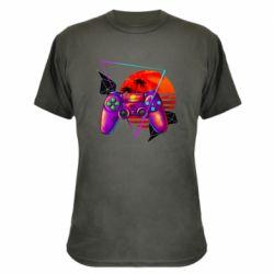 Камуфляжная футболка Retro wave