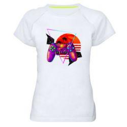 Женская спортивная футболка Retro wave