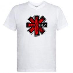 Мужская футболка  с V-образным вырезом RHCP sublim - FatLine