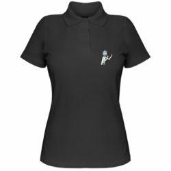 Жіноча футболка поло Rick and fuck vector
