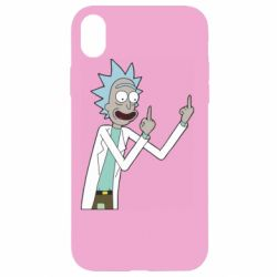 Чохол для iPhone XR Rick and fuck vector