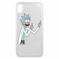Чохол для iPhone Xs Max Rick and fuck vector