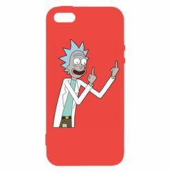 Чохол для iphone 5/5S/SE Rick and fuck vector