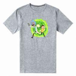 Чоловіча стрейчева футболка Rick and Morty art