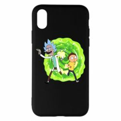 Чохол для iPhone X/Xs Rick and Morty art