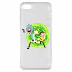 Чохол для iphone 5/5S/SE Rick and Morty art