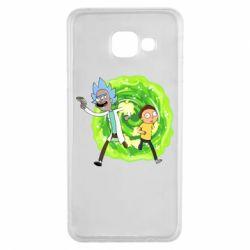 Чохол для Samsung A3 2016 Rick and Morty art