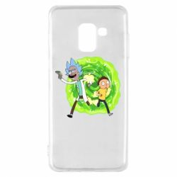 Чохол для Samsung A8 2018 Rick and Morty art