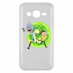 Чохол для Samsung J2 2015 Rick and Morty art