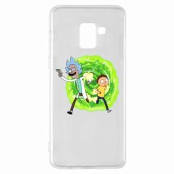 Чохол для Samsung A8+ 2018 Rick and Morty art