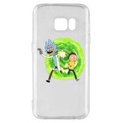 Чохол для Samsung S7 Rick and Morty art