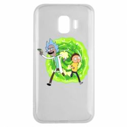 Чохол для Samsung J2 2018 Rick and Morty art