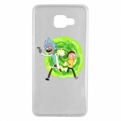 Чохол для Samsung A7 2016 Rick and Morty art