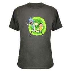 Камуфляжна футболка Rick and Morty art