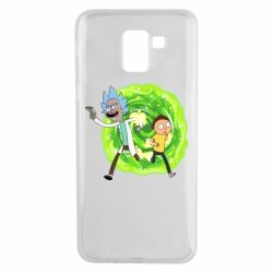 Чохол для Samsung J6 Rick and Morty art