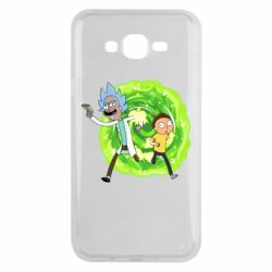 Чохол для Samsung J7 2015 Rick and Morty art