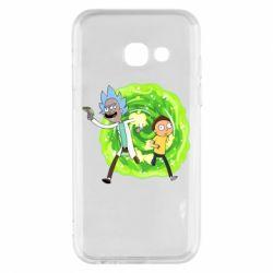 Чохол для Samsung A3 2017 Rick and Morty art