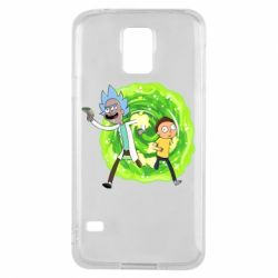 Чохол для Samsung S5 Rick and Morty art