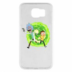 Чохол для Samsung S6 Rick and Morty art