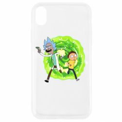 Чохол для iPhone XR Rick and Morty art