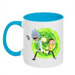 Кружка двоколірна 320ml Rick and Morty art
